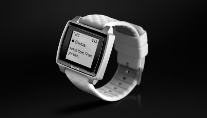 Une montre Basis Peak d'Intel.