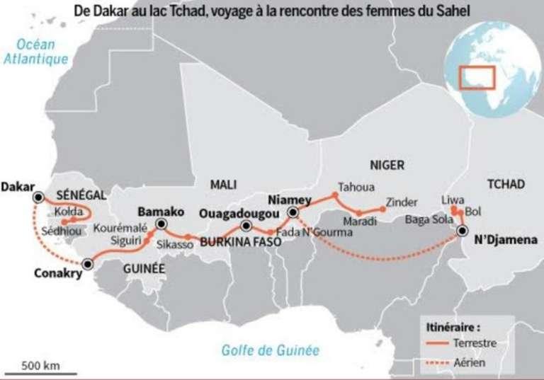 La série d'été du Monde Afrique: 4000 km et 27 étapes entre le Sénégal et le lac Tchad, sur le thème de la santé maternelle et infantile.