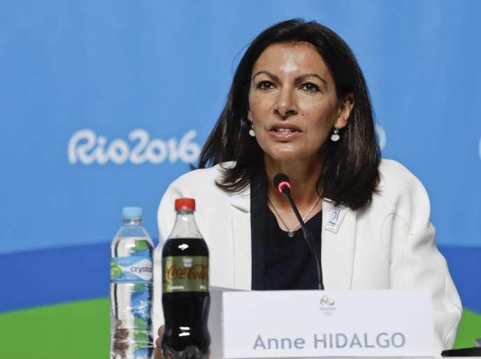 Anne Hidalgo à Rio de Janeiro le 5 août.