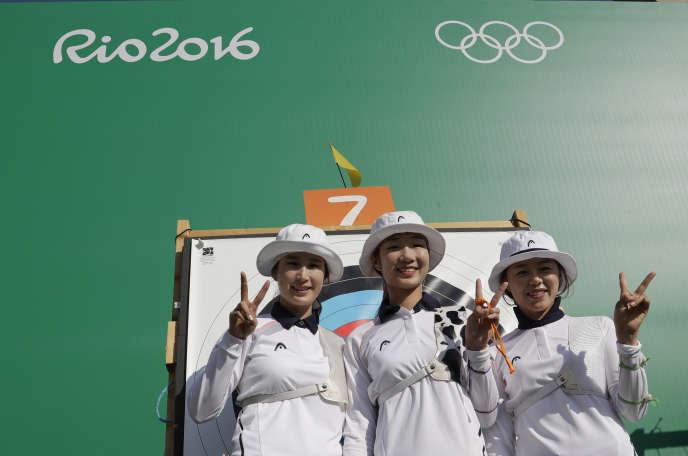 L'équipe de Corée du Sud de tir à l'arc, le 5 août à Rio.