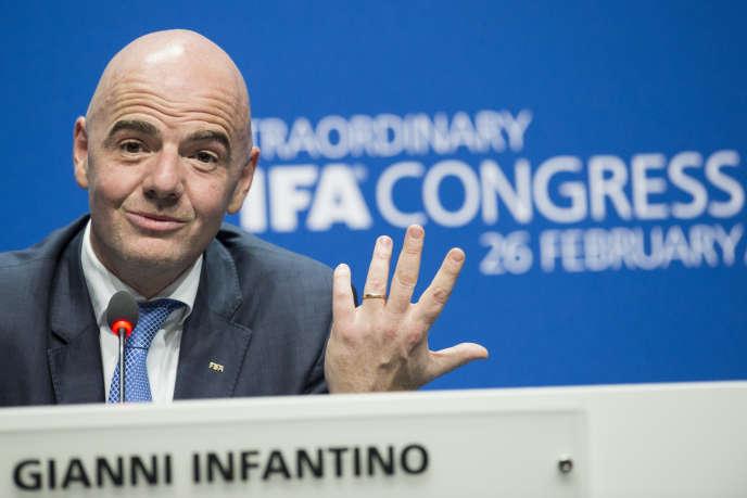 Gianni Infantino, président de la FIFA, en février à Zurich.