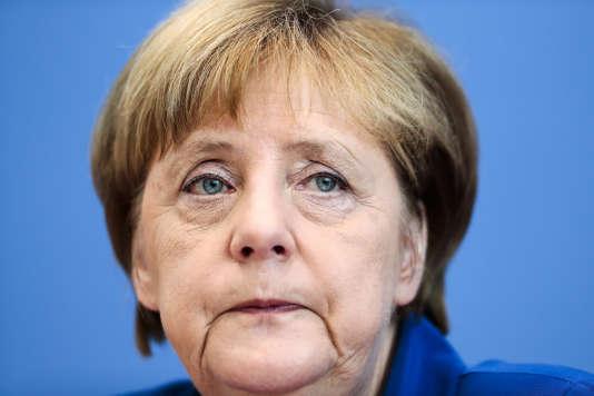 Angela Merkel, le 28 juillet, à Berlin.