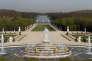 La fontaine de Latone à Versailles, en haut de la Grande Perspective.