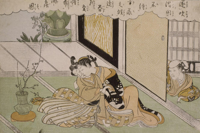 Estampe de Suzuki Harunobu (1725-1770).