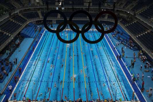 La piscine des Jeux olympiques de Rio.