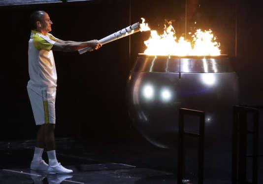 Vanderlei de Lima lors de la cérémonie d'ouverture des Jeux olympiques de Rio, le 5 août.