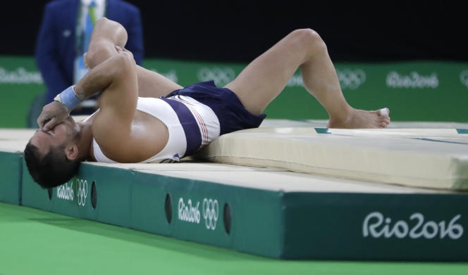 Samir Aït Saïd lors de sa grave blessure, le 6 août à Rio.