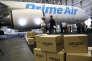 Un Boeing 767 du service de fret Prime Air d'Amazon, à Seattle, le 4 août.
