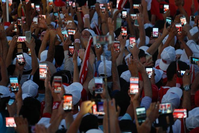 Lors du« rassemblement de la démocratie et des martyrs » organisé à Istanbul, le 7 août.