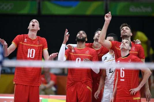 Les volleyeurs de l'équipe de France, le 7 août à Rio.