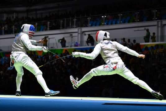 Gerek Meinhardt contre Erwan Le Péchoux, le 7 août à Rio.