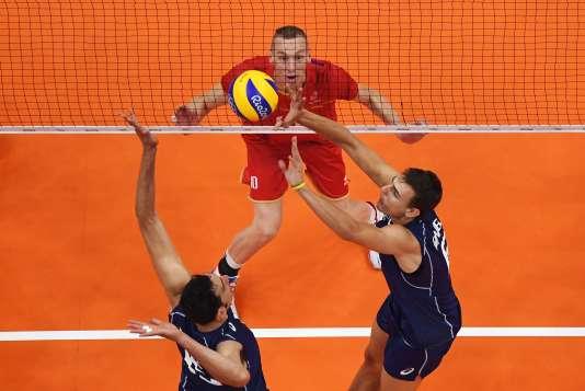 Kevin Le Roux face aux Italiens, le 7 août à Rio.