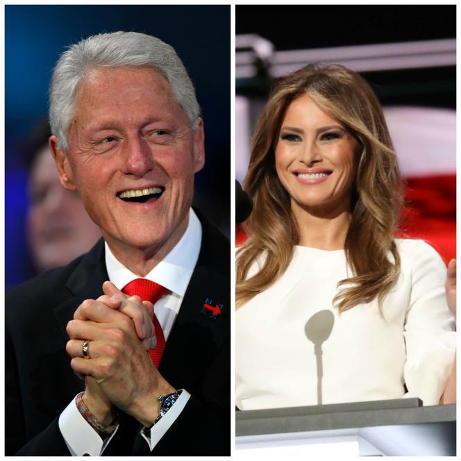 Bill clinton et Melania Trump.