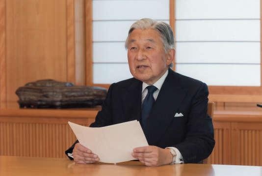 L'empereur du JaponAkihito, lors de son allocution télévisée, le 7 août.