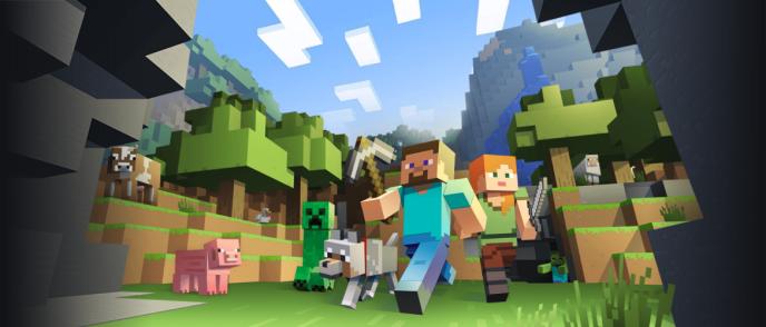 Minecraft, l'un des plus populaires jeux en ligne.
