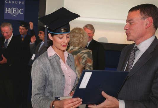 Sur le Campus d'HEC Paris, qui dispense un Executive MBA, mais aussi de nombreuses autres formations très cotées.AFP PHOTO / PIERRE-FRANCK COLOMBIER