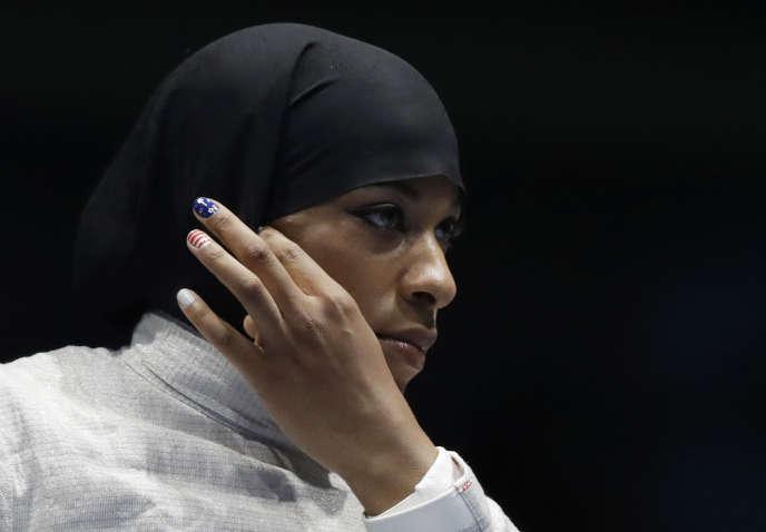 Ibtihaj Muhammad, lundi 8 août, à Rio de Janeiro.