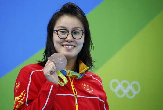 Fu Yuanhui a réussi à monter su le podium au 100 m dos.
