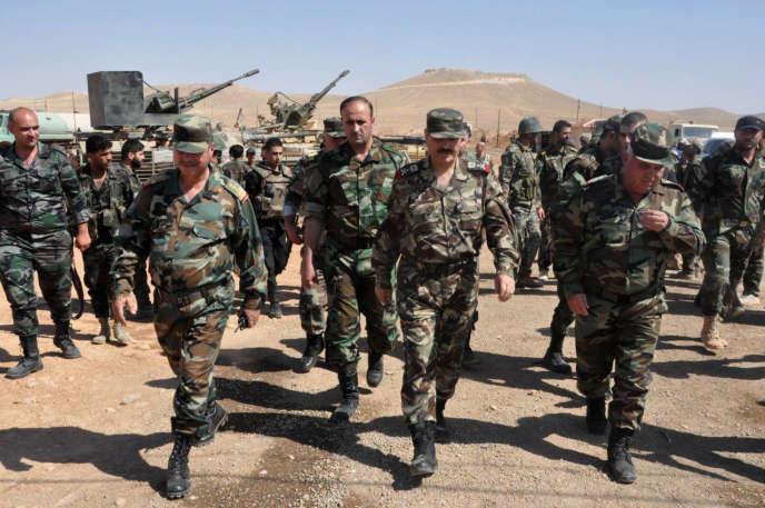 Des membres de l'armée gouvernementale syrienne à Alep le 9 août.