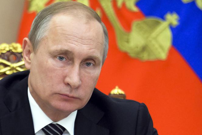 Vladimir Poutine, le 10 août à Moscou.