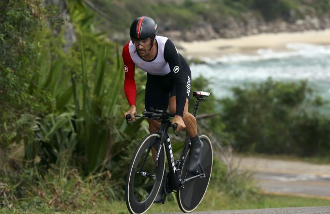 Fabian Cancellara, lors du contre-la-montre, le 10août.