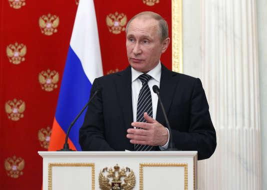 Le président russe, Vladimir Poutine, au Kremlin, le 10 août.