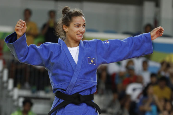 La Kosovare Majlinda Kelmendi, championne olympique des –de52kg à Rio le 7 août.
