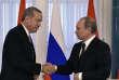 Le président russe Vladimir Poutin et le président turcRecep Tayyip Erdogan, à Saint-Pétersbourg, le 9 août.
