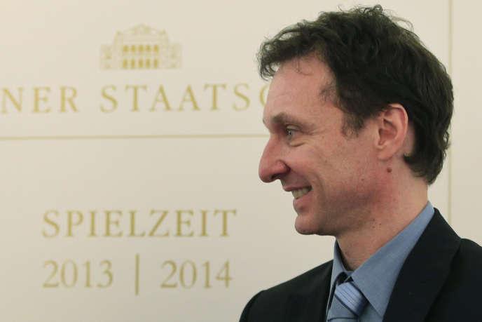 Le directeur du ballet de l'Opéra de Vienne, Manuel Legris, lors d'une conférence de presse à Vienne, en mars 2013.