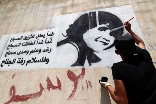 A Sanaa, un artiste yéménite a peint cette œuvre, le 11 août,en mémoire des jeunes victimes qui ont péri durant les conflits.