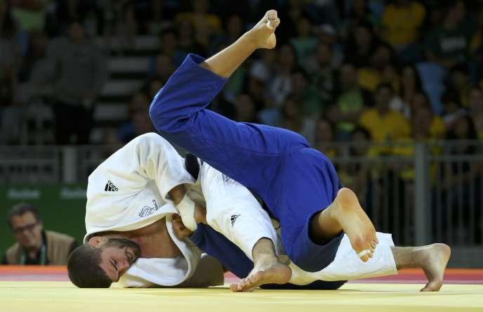 Cyrille Maret et la très grande majorité des judokas de haut niveau français étaient en grève lundi9octobre.