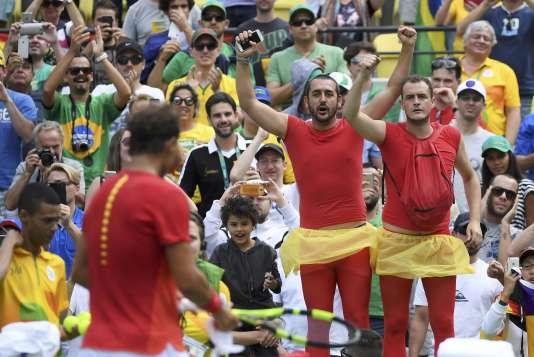 Des supporteurs de Rafael Nadal, le 11 août à Rio.