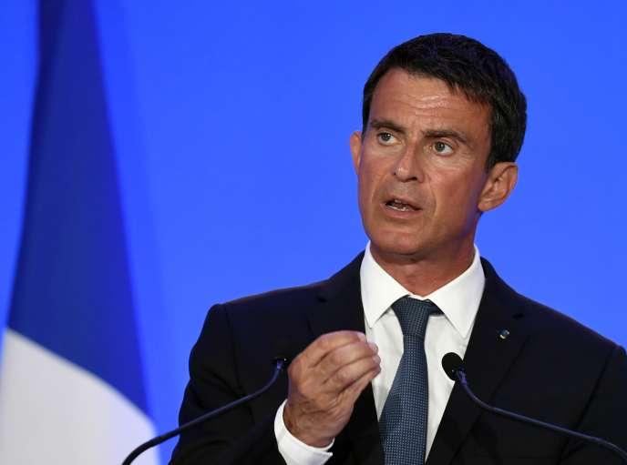 Manuel Valls à Montluçon, le 11 août 2016.