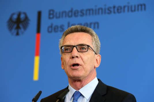 Le ministre de l'intérieur allemand, Thomas de Maizière, le 11 août à Berlin.