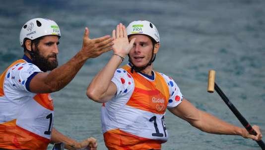 Gauthier Klauss et Matthieu Péché, le 11 août à Rio.