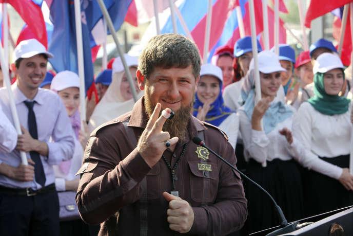 Le leader tchétchène Ramzan Kadyrov, à Gronzy, la capitale, le 11 août.