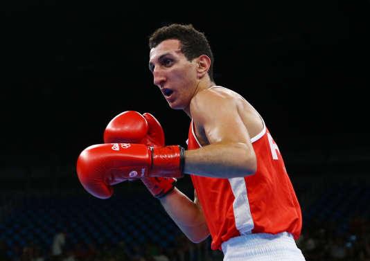 Le boxeurSofiane Oumiha (- 60 kg), à Rio le 12 août.