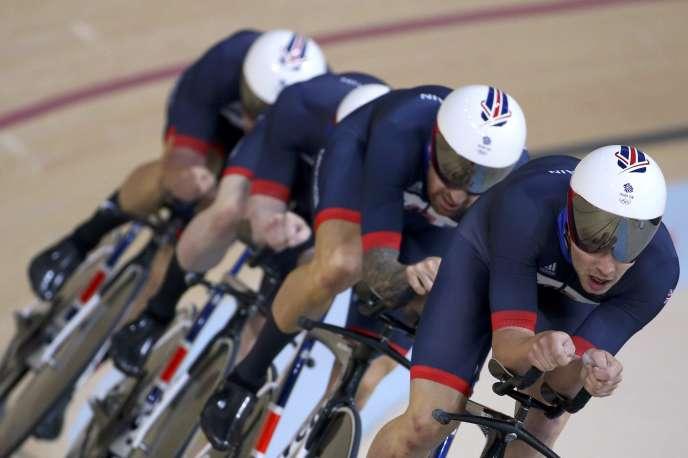 L'équipe de poursuite de Grande-Bretagne, jeudi 11 août, à Rio de Janeiro.