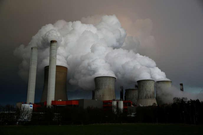 La centrale à charbon RWE, à Niederaussem, en Allemagne.