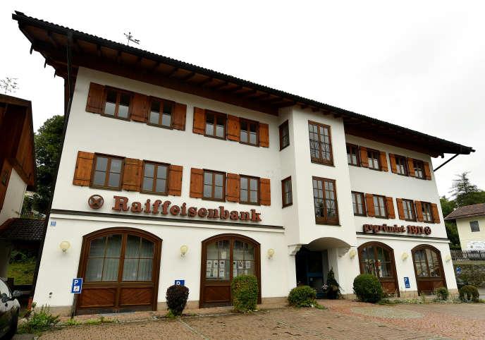 La Raiffeisenbank de Gmund am Tegernsee, dans le sud de la Bavière, le 12 août.