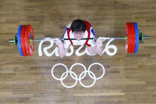 Rim Jong-sim, haltérophile nord-coréenne, 12 aôut aux JO de Rio.