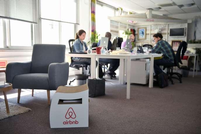 Le siège d'Airbnb à Paris.