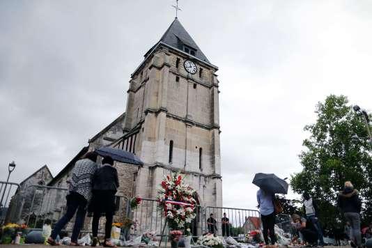 L'église de Saint-Etienne-du-Rouvray, le 27 juillet 2016. AFP / CHARLY TRIBALLEAU