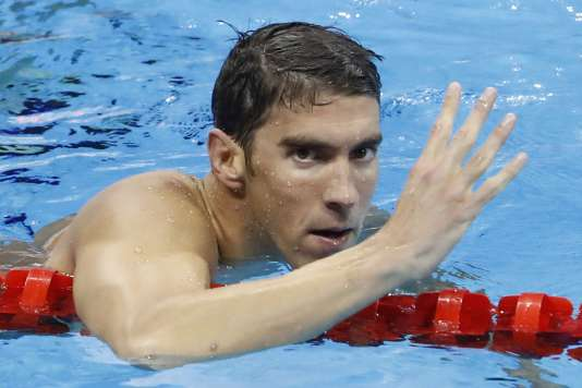 Michael Phelps, le 11 août 2016, dans le bassin olympique de Rio.