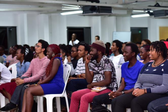 Des étudiants du campus mauritien de l'African Leadership College.