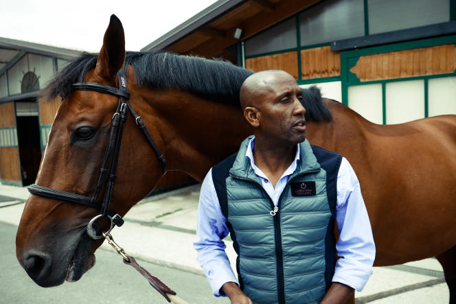 Abdelkébir Ouaddar, et son cheval,Quickly de Kreisker.