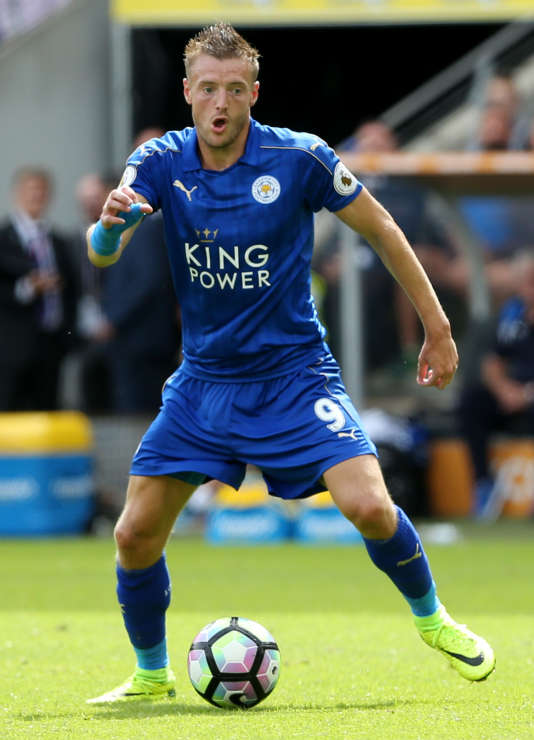 Jamie Vardy lors du match contre Hull City au Kingston Communications Stadium le 13 août.