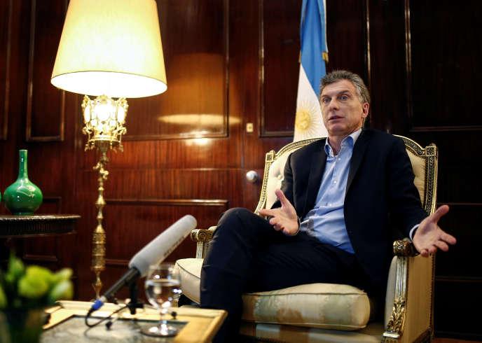 L'arrivée au pouvoir de Mauricio Macri, ici le 8 août 2016, a rassuré le FMI.