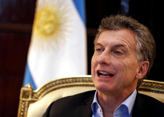 Le président argentin, Mauricio Macri, àBuenos Aires, en août 2016.