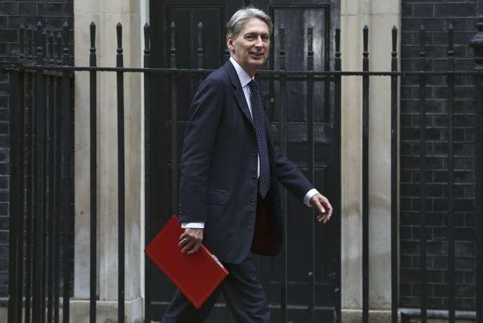 Le ministre des finances britannique Philip Hammond, le 2 août 2016.